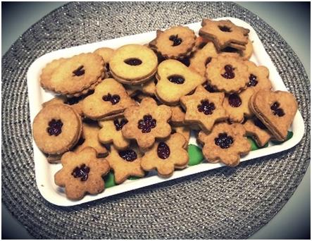 Špaldové linecké koláčiky