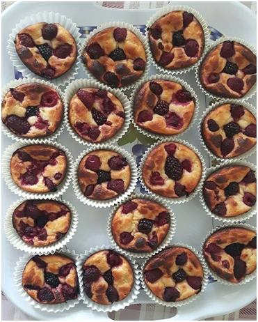 Tvarohovo-piškótové muffiny